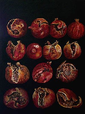 "James de Villiers, ""Fourteen pomegranates"" With a click on 'Send as art card', you can send this art work to your friends - for free!"