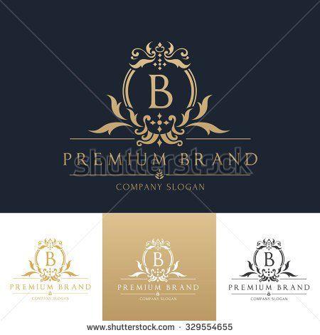 Boutique brand,real estate,property,royalty,crown logo,crest logo,Vector Logo Template.