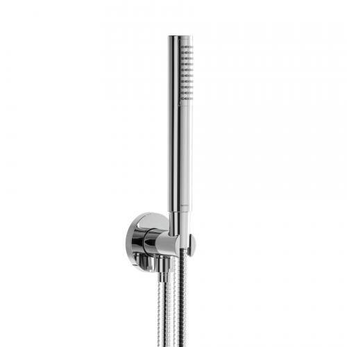 Herzbach Living Spa Wannenset  Brausehalter & -anschluss,  Länge: 1600 mm, Handbrause aus Kunststoff