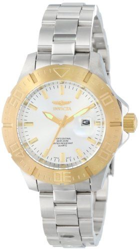 "Invicta Women's 15328 ""Pro-Diver"" 18k Gold Ion Plating and Stainless Steel Watch"
