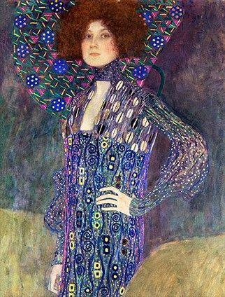 클림트, [에밀리 플뢰게], 1902년, 캔버스에 유채, 181x84cm, 빈 박물관