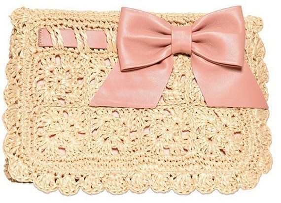 Crochet Clutch PATTERN. Crochet Pattern. Knit by LittleNinni