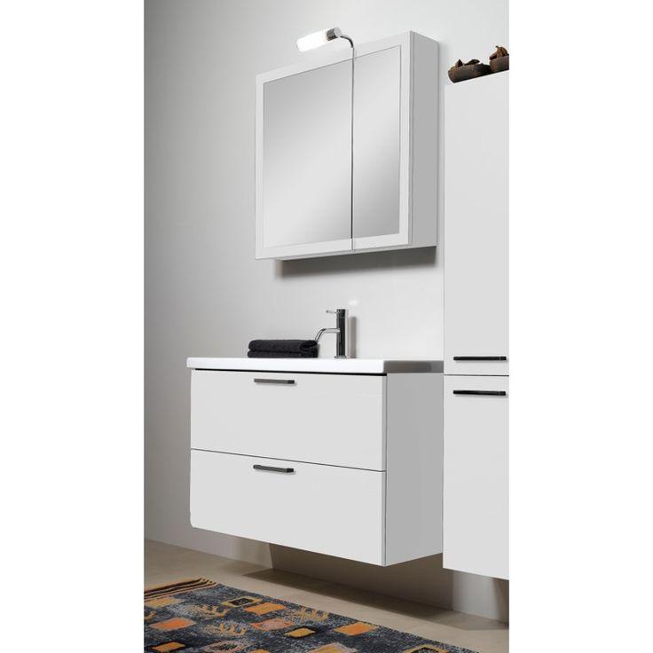 Good  DEEP Lotti L Bathroom Vanity Luna Nameek Fitted ceramic sink