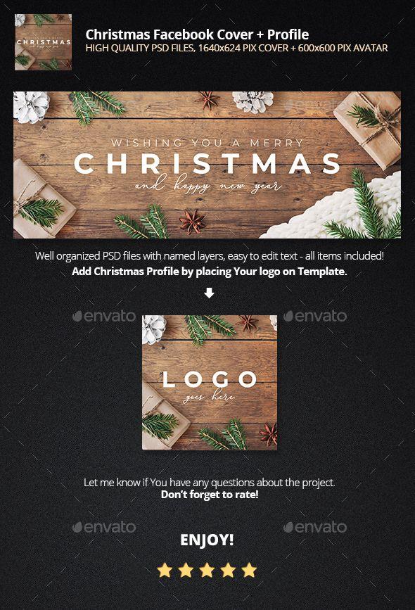 Christmas Facebook Cover Profile Design Template Psd Facebook