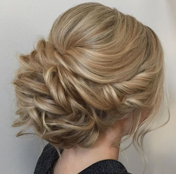 Featured Hairstyle: Heidi Marie (Garrett) Villa (Hair and Makeup Girl); Wedding hairstyle idea.