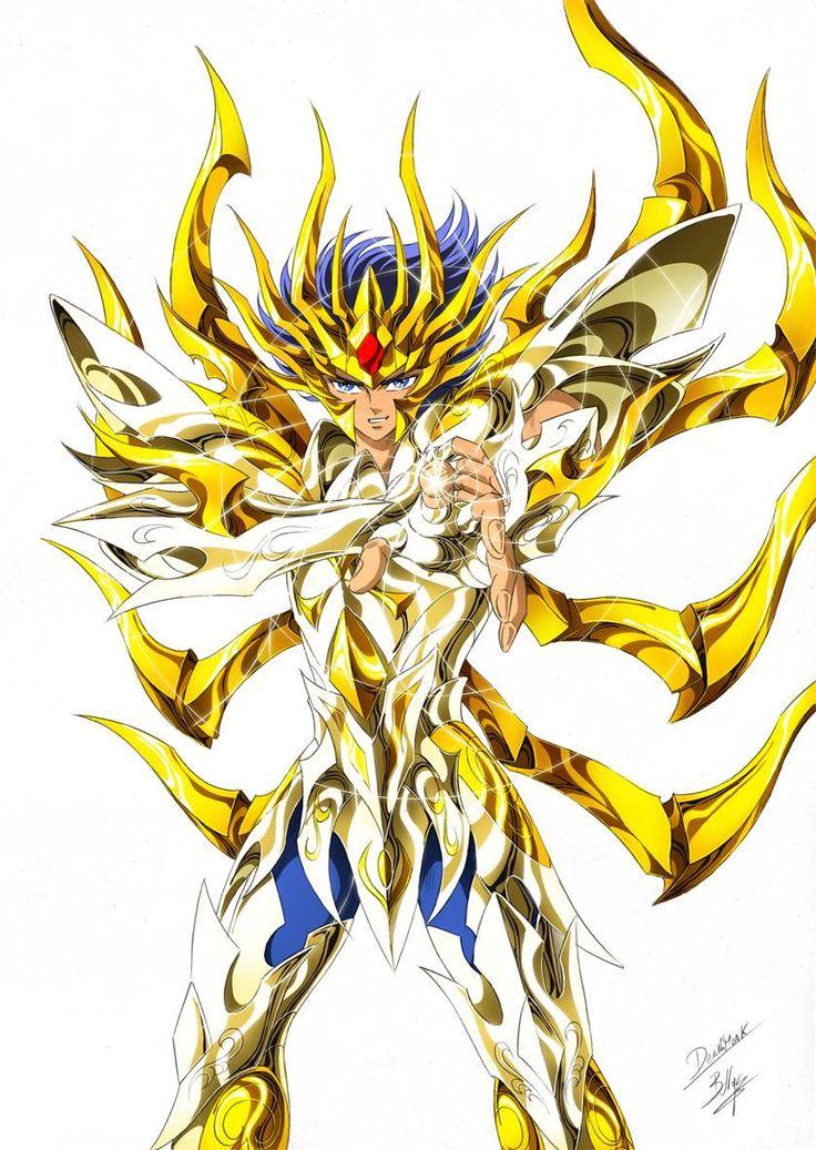 Gold Saint Cancer Deathmask with Divine Cloth, Artwork by SpaceWeaver. Saint Seiya Soul of Gold