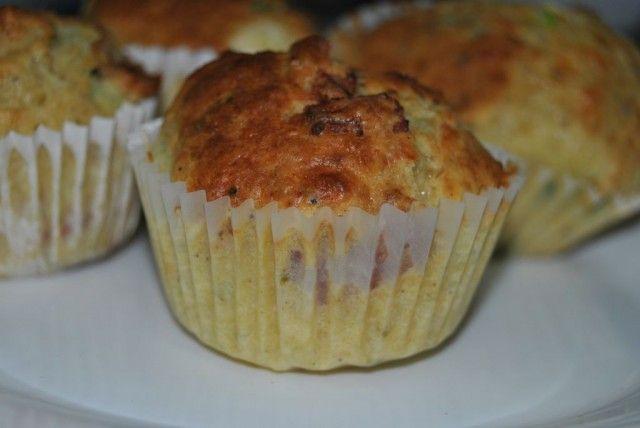 Receta de muffins de puerro y jamón cocido