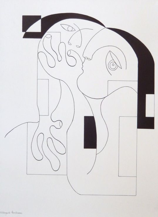 ARTFINDER: Anonymus II by Hildegarde Handsaeme -  Hildegarde Handsaeme paints mainly women and follows a harmonic and constructively perfect pattern. The figure in itself is dominating but she knows how to ...