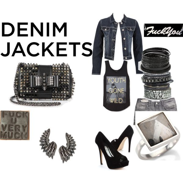"""""""Demonstrate Your Denim Jacket Style"""" by angeldiamond on Polyvore"""