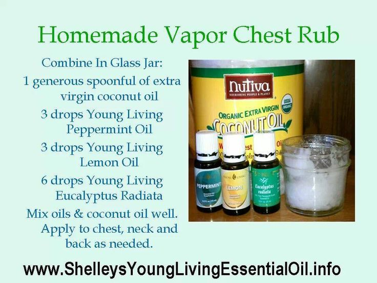 Homemade Vapor Chest Rub Http Choose Young Living Com Chest
