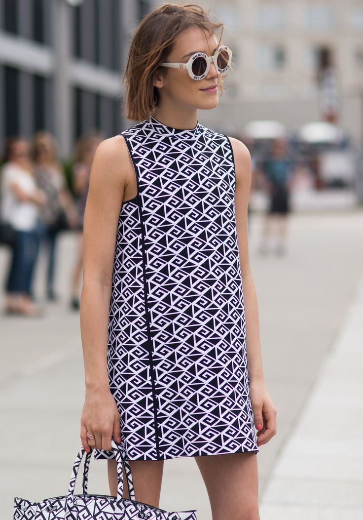 Street style NYFW SS15 repetition in the all over pattern