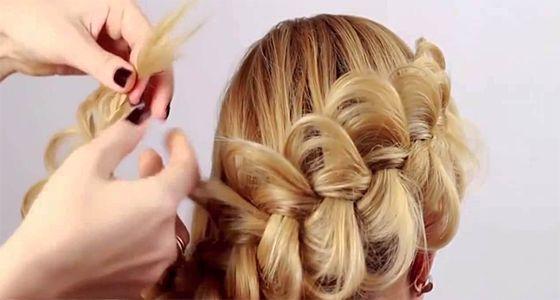 Como hacer un recogido trenzado peinados faciles pinterest - Como hacer peinados faciles ...