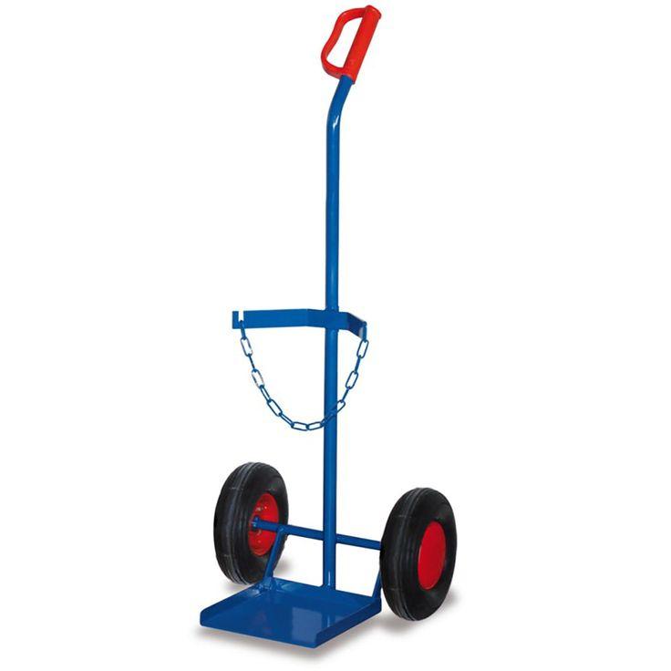 GTARDO.DE:  Stahlflaschenkarre für Propangasflasche 11 kg, Tragkraft 100 kg, Maße 580x530x1200 mm, Schaufel 350x340 mm, Rad 260x85 mm 109,00 €