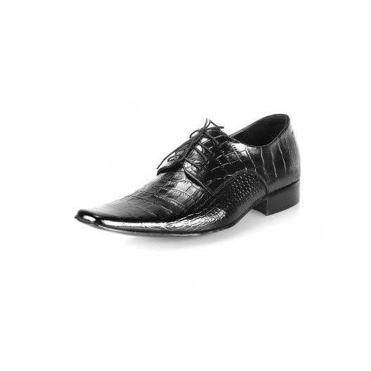 Pánske kožené spoločenské topánky čierne PT163 - manozo.hu