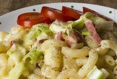 Zapékané těstoviny se sýrem a pórkem. Autor: digiart