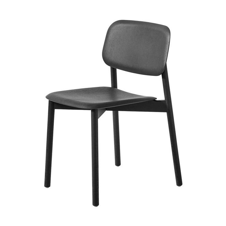 Soft Edge Stuhl in Eiche schwarz seidenglänzend -  - A053150.002