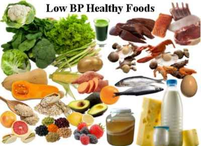 Nutritional food for people with low bp
