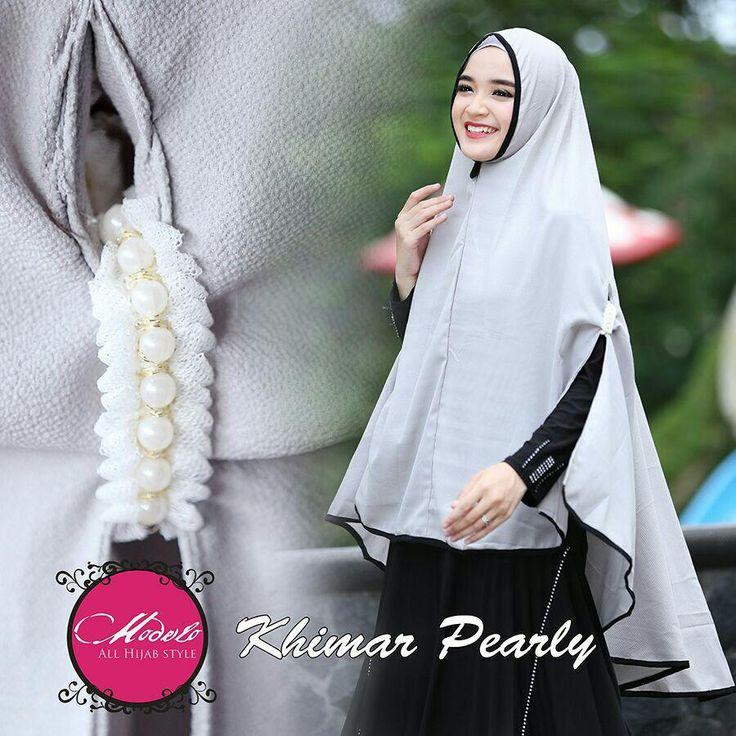 Khimar Instan Simple Modis Terbaru Pearly by Modelo