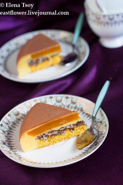 Постный торт облепиха-апельсин-шоколад - Елена
