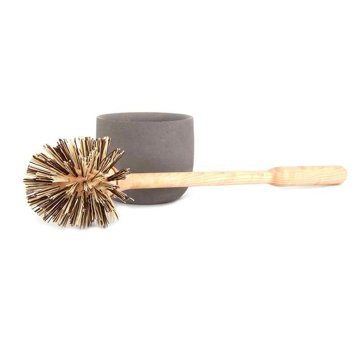 Iris Hantverk Loo Brush & Light Grey Concrete Holder: Simple, elegant and stylish loo brush and polished concrete holder.