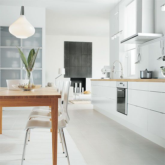 Ikea Abstrakt cabinets in white   Quote for our Abstrakt galley kitchen with metrik handles (not including sink, stove, etc.) was £2471 + oak wt 869.26
