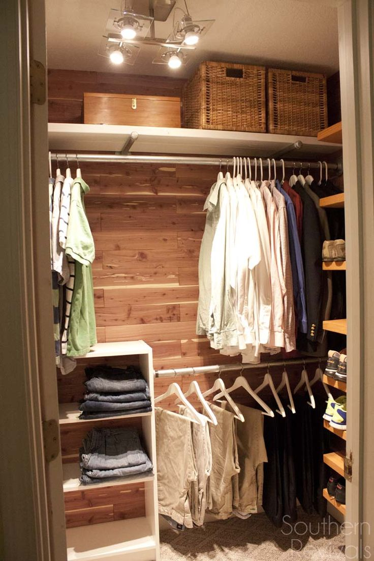 Beautiful master bedroom closets - Man Closet Makeover
