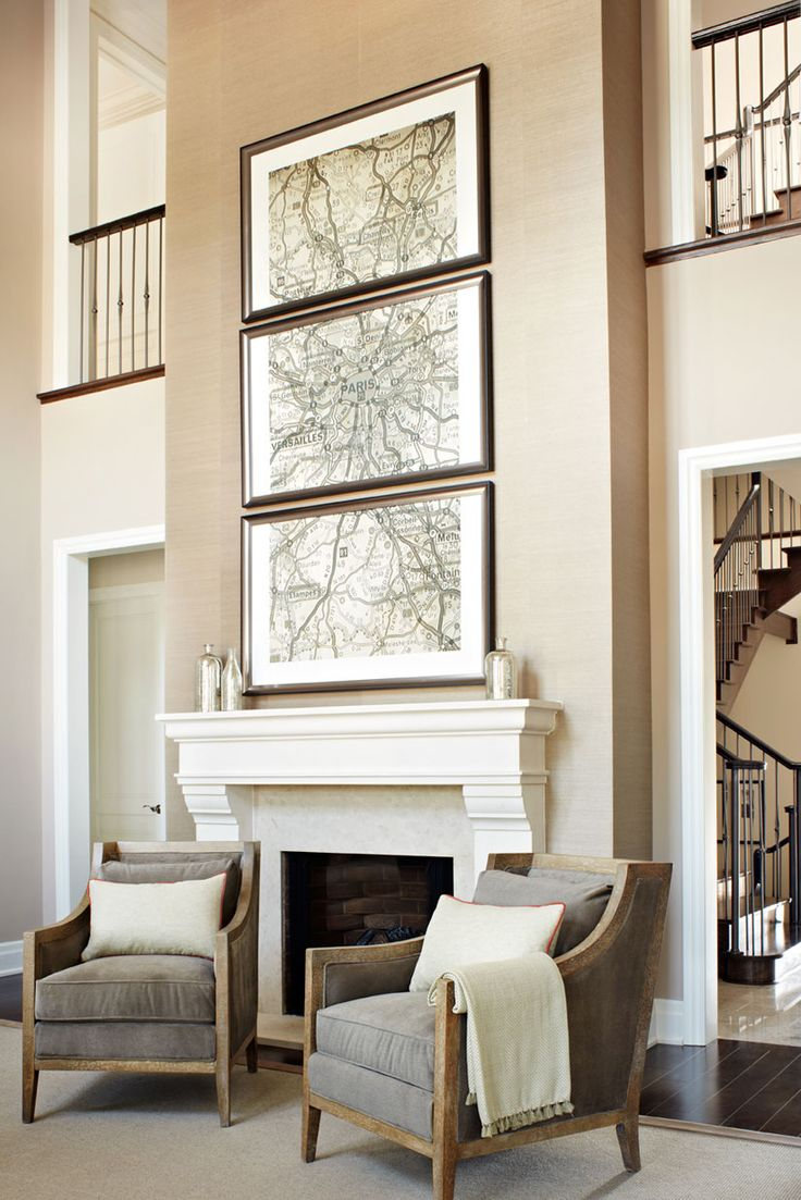 Two Story Foyer Wall Decor : Best images about decor ideas high wall spaces on