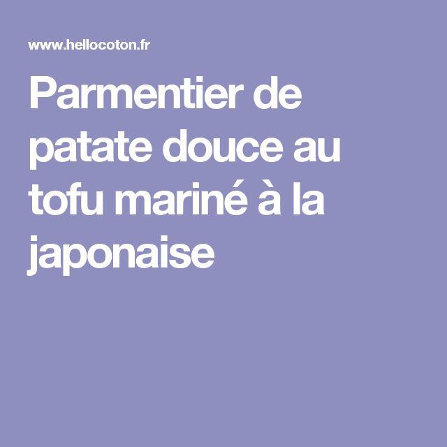 Parmentier de patate douce au tofu mariné à la japonaise