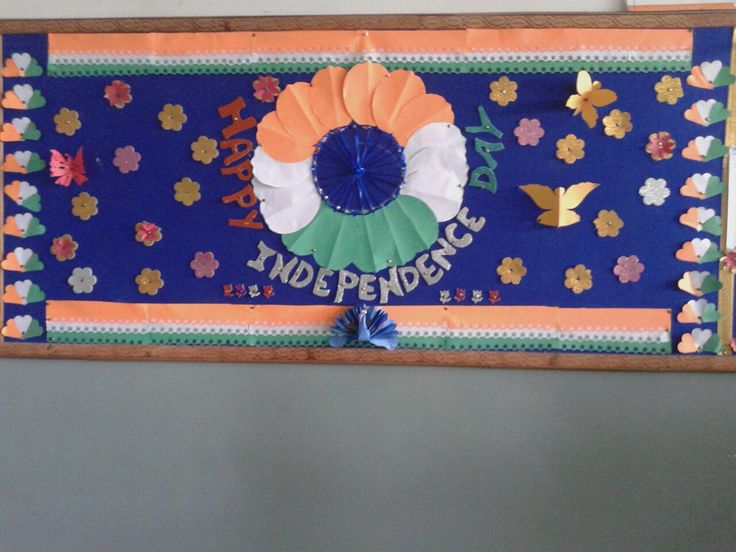 Display board decoration on independence day