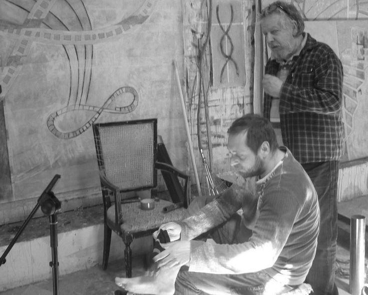Con Horacio Sapere, después de grabar pisadas en la sal en el proyecto 'Oració per la sal'
