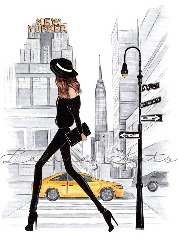 New York print New York Poster New York wall art New york fashion art NYC print New York art NYC art Watercolor fashion NYC wall art