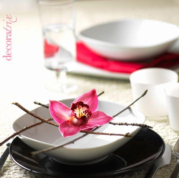Floral Decoracion, Decoracion De, Desayunos Creativo, Florales Japoneses, Adorno Mesas, Oriental Para, Inspiración Oriental, Con Orquideas, Eventos Ideas