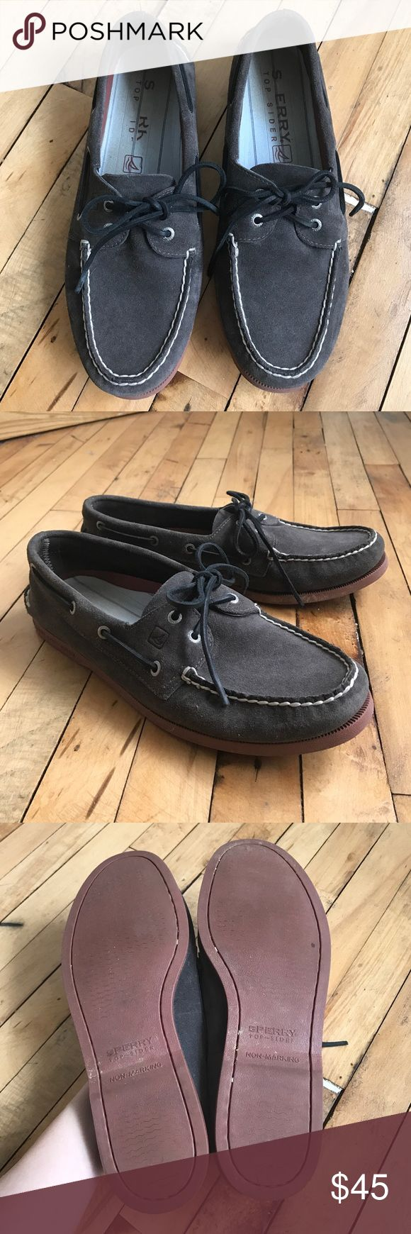 Sperry Topsider Men's Boat Shoes Grey Suede Worn only a couple times. Great condition. Sperry Top-Sider Shoes Boat Shoes