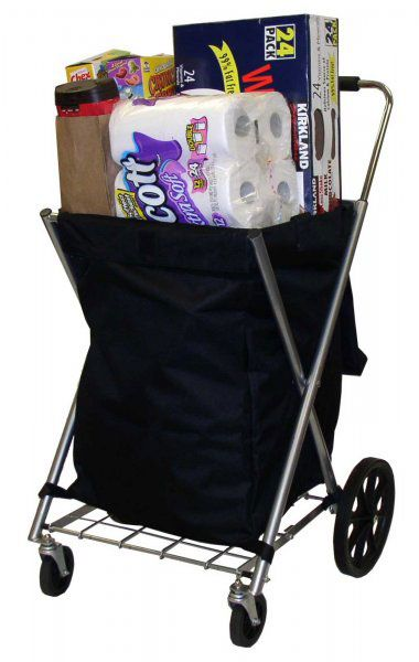 The Portable Shopping cart will keep your groceries dry and protected from the elements.