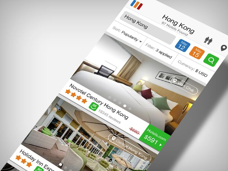 Trivago.com - Hotels search result by Alexander Protikhin