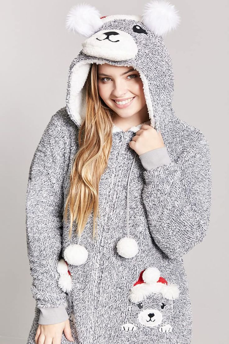 Product Name:Plus Size Plush Santa Bear PJ Onesie, Category:plus_size-main, Price:22.99