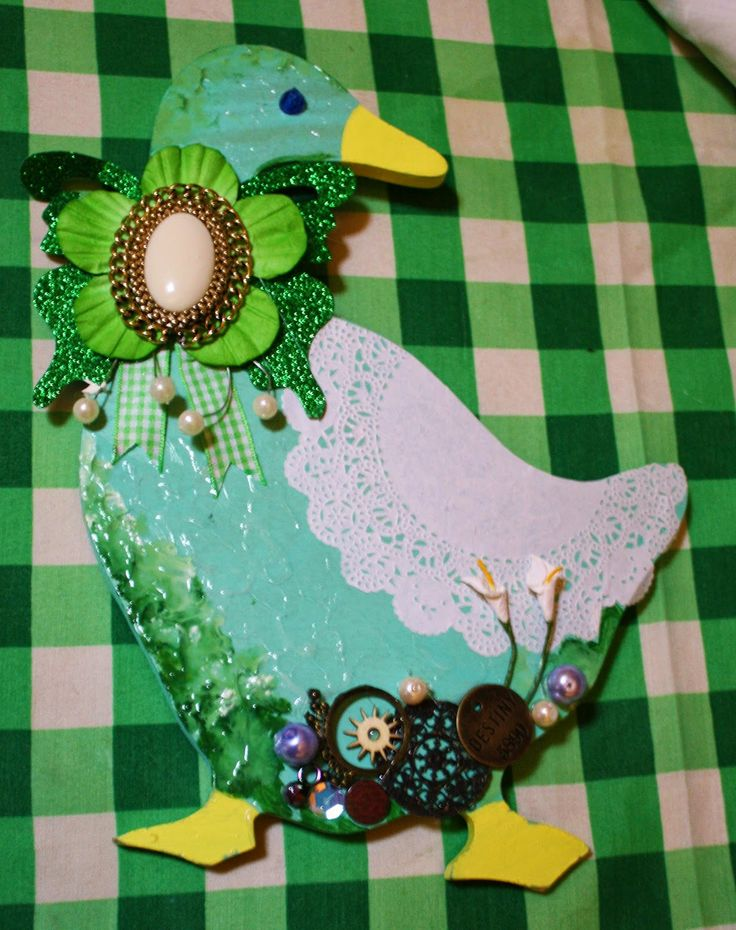 Duck with embellishments
