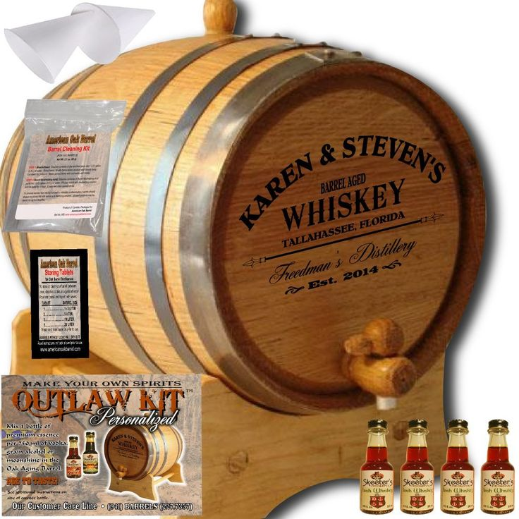 Personalized Outlaw Kit (Irish Whiskey) From American Oak Barrel - Design 063: Barrel Aged Whiskey (3 Liter)
