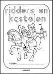 werkboekje ridders en kastelen en andere werkbladen passend bij het thema middeleeuwen.