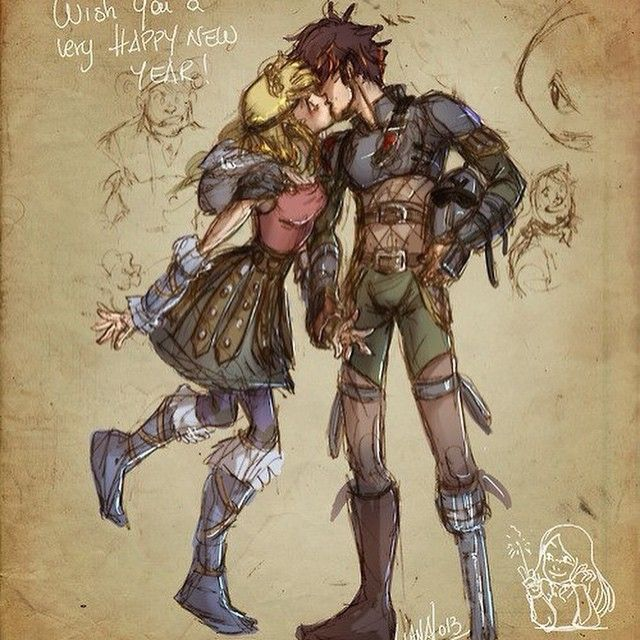 how to draw hiccup and astrid
