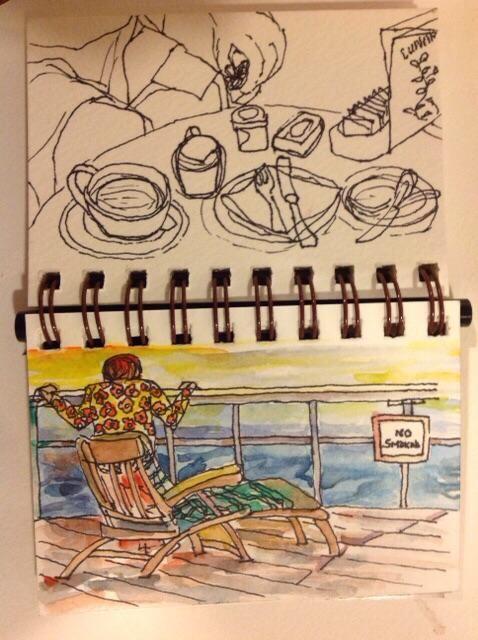 Pen (Staedtler Lumocolor 0.4mm) water and color http://ift.tt/2g3BRea