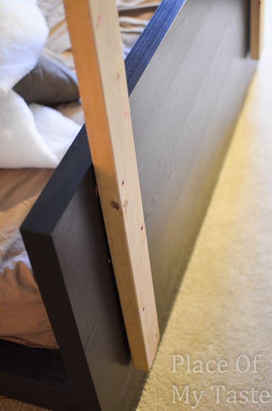 IKEA HACKS   A DIY Upholstered Malm Headboard. Ikea KopfendeSelbstgemachte  KopfteileGepolsterte ...