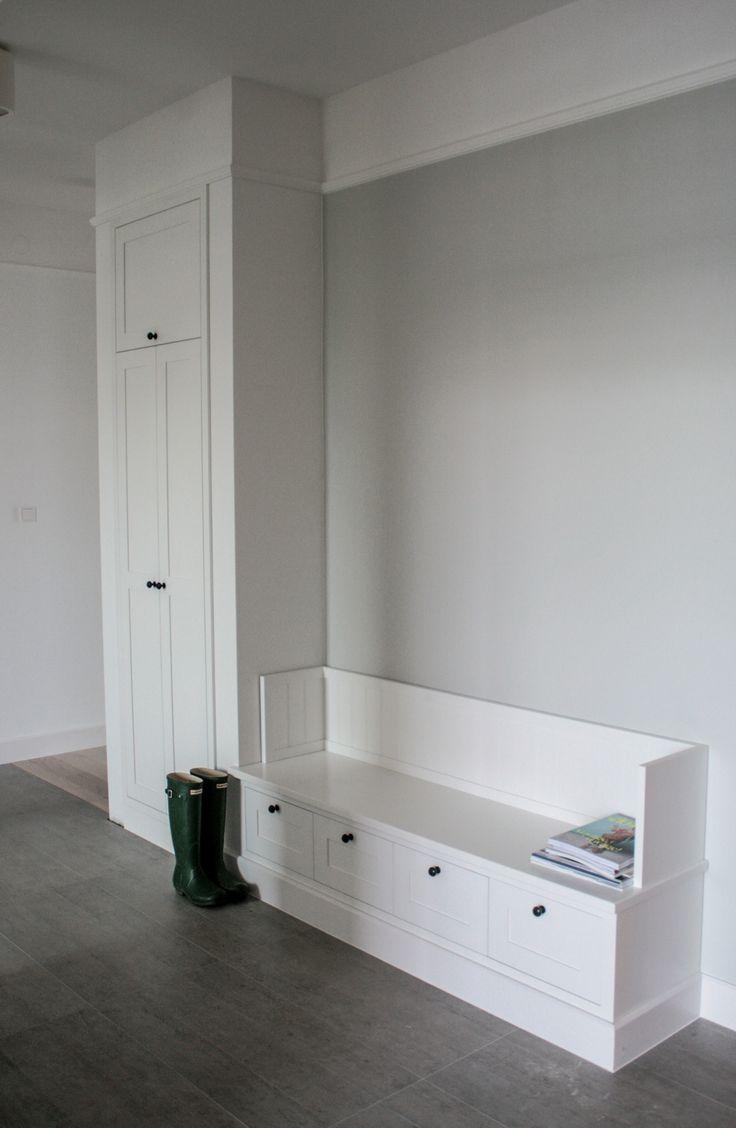 ławka i szafa do przedpokoju, holu, meble style klasyczne, mudroom, entry wardrobe   - wykonanie by Artystyczna Manufaktura