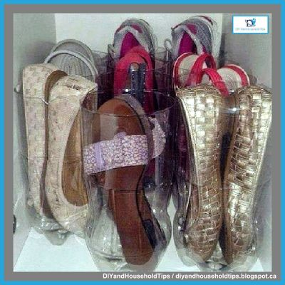 DIY And Household Tips: Turn Empty Plastic Pop Bottles Into Shoe Organizer...