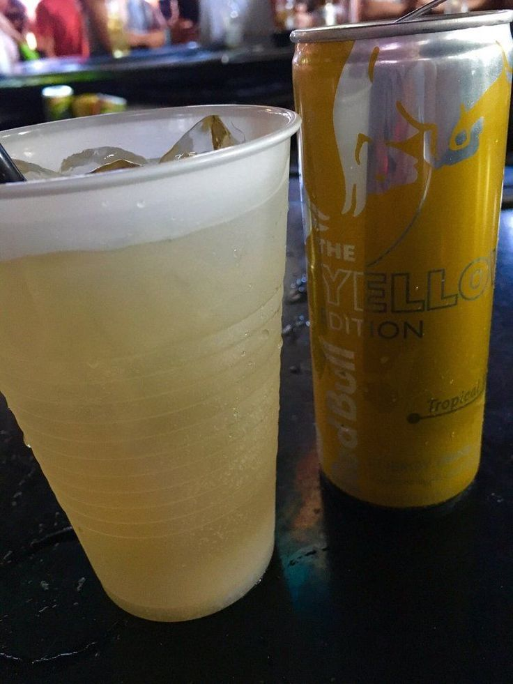 Malibu Pineapple & Tropical Red Bull - Might Just be My New Go-To!