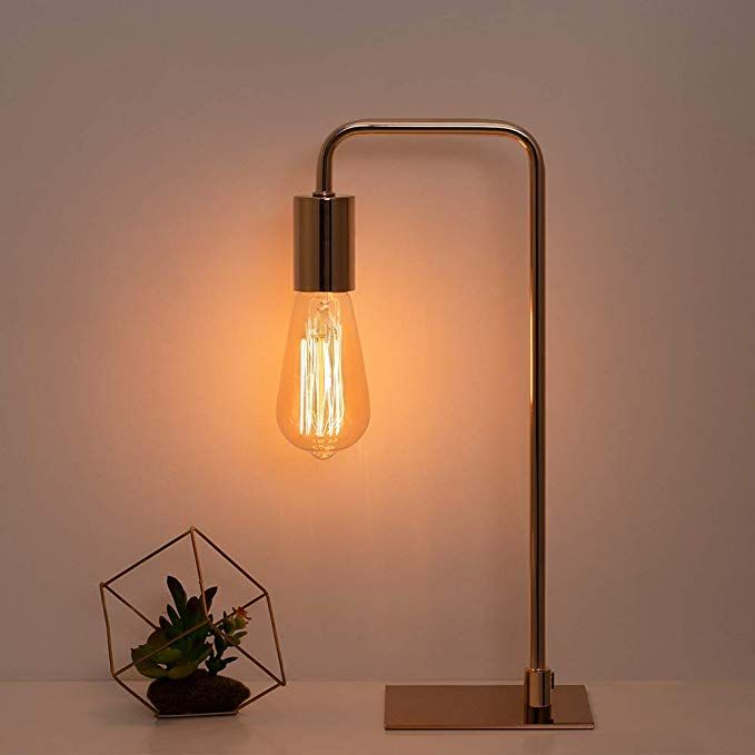 Industrial Desk Lamp Nightstand Lamp Metal Square Base Table Lamp Minimalist Bedside Lamp For Living Room Bedroom Lamp Industrial Desk Lamp Vintage Table Lamp