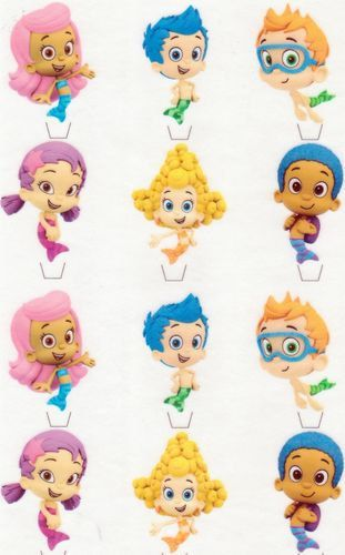 12 Bubble Guppies edible cut out cake decoration by CandyKakes, $4.75