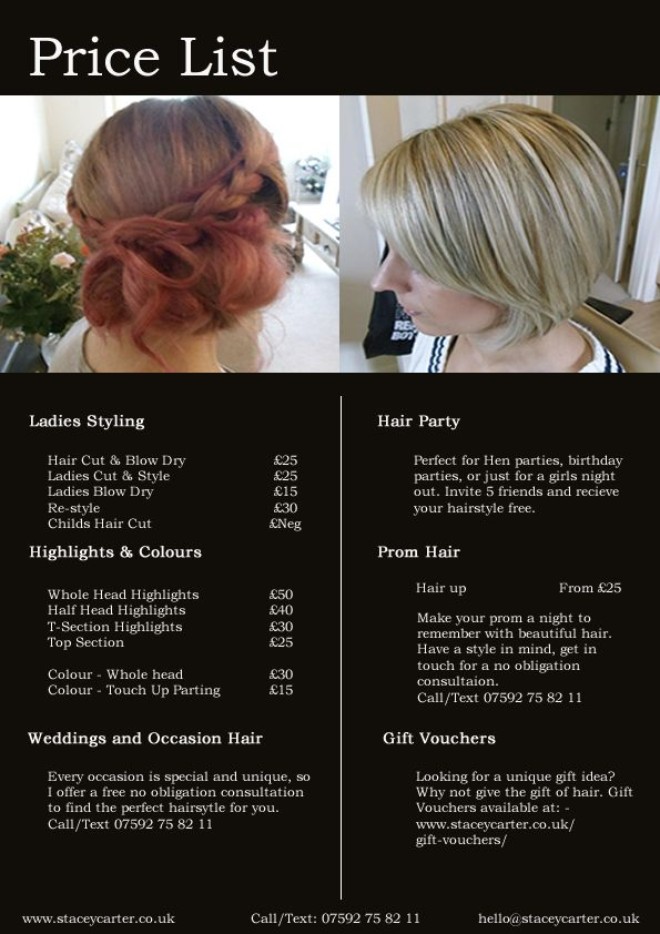 Best 25+ Hairdresser price list ideas on Pinterest Beauty price - salon price list