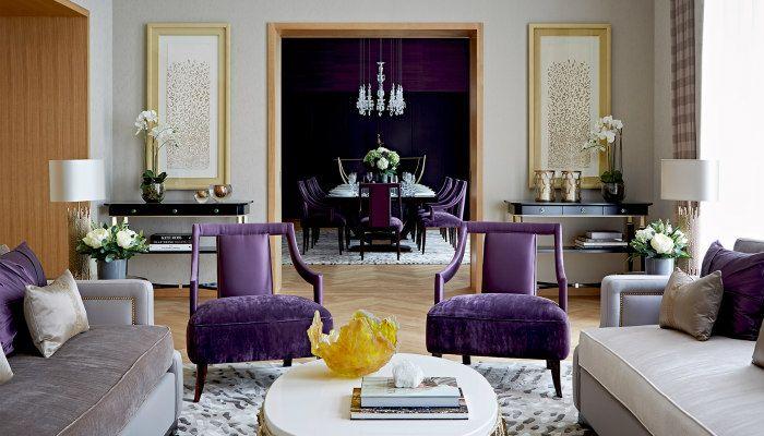 Interni Moderni Case Di Lusso : Dettagli ultra violet in casa. ultra violet nel 2019 arredamento