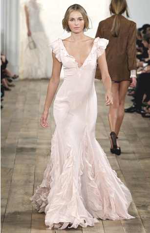 beautiful blush wedding dress bridal runway pinterest blush